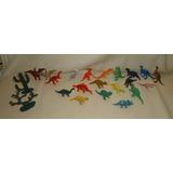 Lote De 20 Dinosaurios Pequeños Plástico Goma