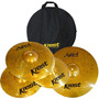 Kit Pratos P/ Bateria Krest Aged Brass Abset1 13 14 18 + Bag