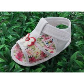Baby Belo Sandalia Menina Floral Branca Nº 13 Ao Nº 17
