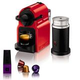 Cafetera Express Nespresso Inissia Red Mas Aeroccino 3