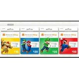 Tarjetas Nintendo Eshop $5-$70