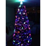Arbol Navidad, Fibra Optica, Led Y Decoracion