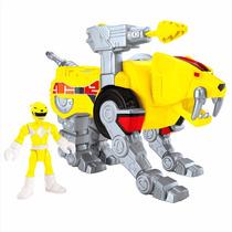 Imaginext - Power Rangers Amarelo E Zord Dente De Sabre