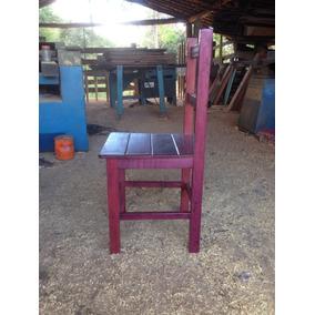 Cadeira De Madeira Maciça - Modelo Antigo