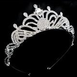 Coroa Tiara Noiva Noivado Debutante Formatura Banhada Prata