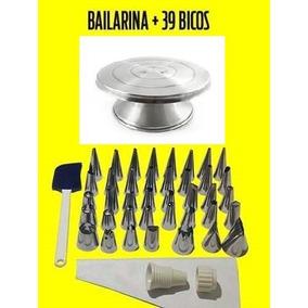 Bailarina Para Decorar Bolo+kit De Bicos P/ Confeitar 39 Pçs