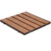 Deck Modular Injetado De Madeira Plástica 50 X 50 Cm 1 Un