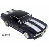 Carrinho Camaro Ss Preto 1969 Miniatura 1/32 - Ferro
