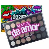 Paleta De Sombra Jasmine Nude Matte Amor 28 Cores + Brinde