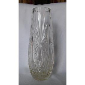 florero jarron cristal tallado alto cm n