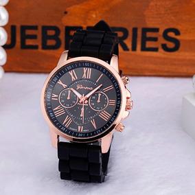 Relógio Feminino Clássico Quartzo Geneva Cores Lindo Luxo