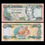 Billete De Bahamas 1/2 0,5 Dollar 50 Cents Año 2001