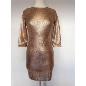 Vestido Corto Strech Dorado