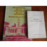 2.- Libros Trastienda Historia Reforma Y Memorias Un Mexican