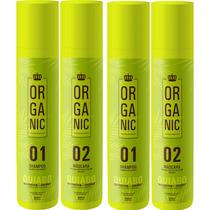 2 Kit Semi Definitiva Quiabo Orgãnica 100% Liso Absoluto