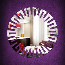 Espelho Decorativo Redondo Egipcio Quarto Sala 60 Cm