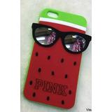 Capa Case Capinha Iphone 4/4s Melancia Pink +pelicula Vidro