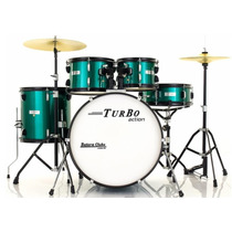 Bateria Turbo Action Series Emerald Green 22¨,10¨,12¨,14¨ Co