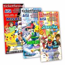 50 Invitaciones Impresas Pokemon ¡en Oferta!