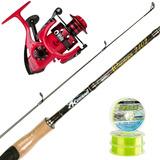 Equipo Pesca Señuelos Spinning Onaga 1.95 + Reel Vrf 3003