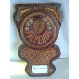 Escudo Do Palmeiras,entalhado Em Madeira,personalizado.
