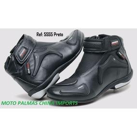 Bota De Couro Motociclista Muito Conforto Stilo 5555