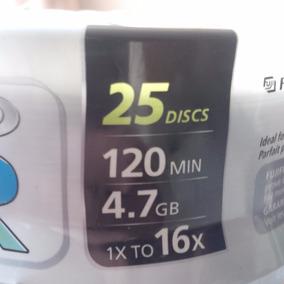 Paquete Completo Veinticinco Cds Fujifilm Grabar Dvd Sony -r