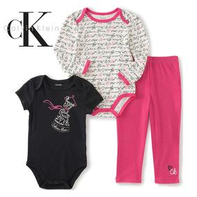 Conjunto De 3 Piezas Para Niñas / Marca Calvin Klein