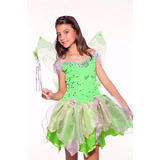Vestido Fantasia Princesa Sininho Tinker Bell Luxo Promoção
