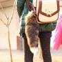 Chaveiro Rabo Lobo Marrom 40cm Cosplay Pet Play Raposa Macio