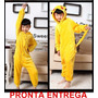 Pijama Pokemon Pikachu Fantasia Picachu Pr. Entrega Infantil