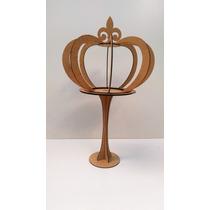 Coroa 3d Grande Com Pedestal-festas-artesanatos-mdf Cru