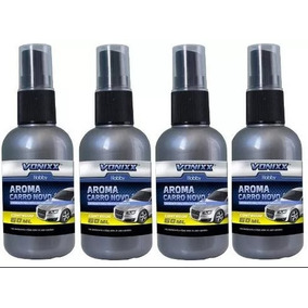 Kit Com 4 Un. Cheirinho Aroma Carro Novo Spray 60ml - Vonixx