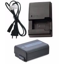 Kit Bateria + Carregador Np-fw50 Sony Slt-a55 Slt-a37 Slta33