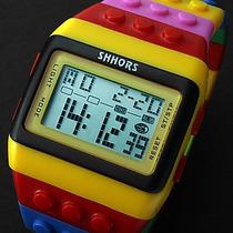 Relógio Colorido Multicor Led Noturno. Relógio Super Lindo.