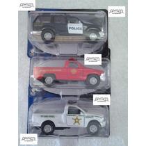 3 Miniaturas Maisto - Metal - Polícia E Resgate Eua - 11 Cm