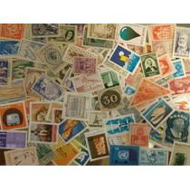 Lote Com 100 Selos Comemorativos Novos Diferentes - Brasil