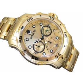 Relogio Invicta Pro Diver 0074 Banhado Crono Dourado