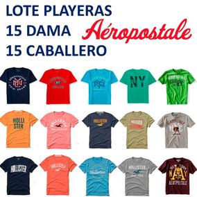 30 Playeras O Blusas Dama Y Caballero Aeropostale Hollister