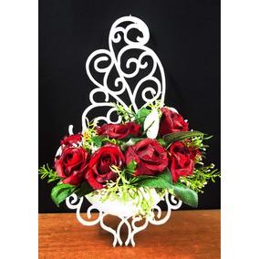 1 Arranjo Rosas Provençal - Arandela Artificial Flores Vasos
