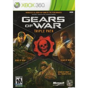 Juego Gears Of War Triple Pack Xbox 360 Ntsc Español 2cds