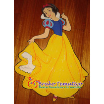 Princesas Blancanieves Figuras Goma Eva Cumpleaños Temáticos