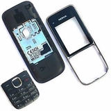 Carcaça Nokia C2-01 Preta Primeira Linha