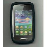 Capa De Silicone Para Samsung Galaxy Y Wave S5380 - Preto