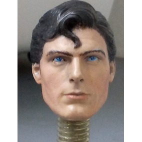Superman Christopher Reeve Cabeza Escala 1/6 12 Pulgadas