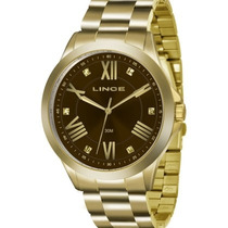 Relógio Lince Feminino Dourado Lrgj046l N3kx + Nf-e