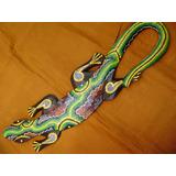 Escultura Iguana Tallada En Madera 0,5 Mt