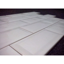 Azulejos 7,5 X 15 Cm Subway Blanca Importada