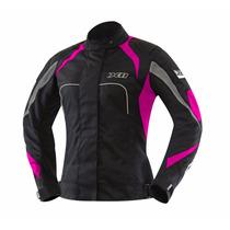 Jaqueta Feminina Motociclista Preta X11 One Nylon Proteção