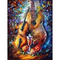 Guitar And Violin - Pintura Al Óleo Leonid Afremov